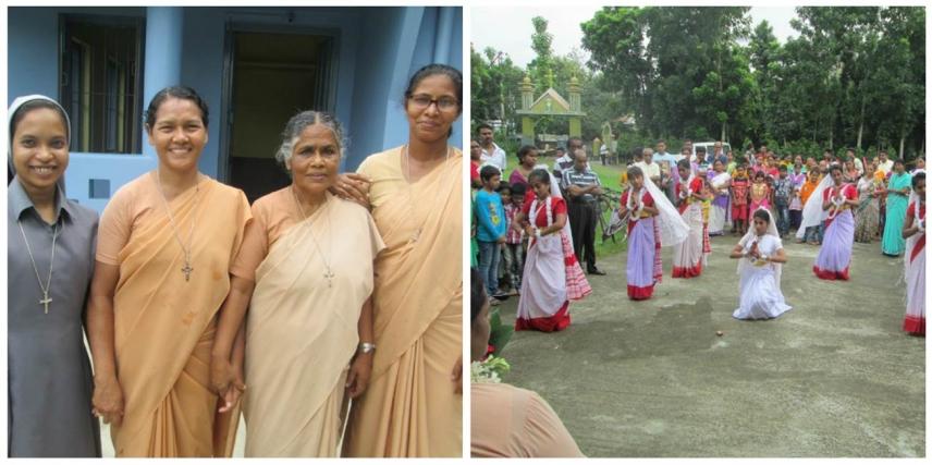 Le figlie di P. Luigi a Raghabpur - India